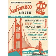 This charming print of vintage a vintage travel guide for San Francisco is great for wall décor, book covers, craft projects and gift wrapping, too! Printed on Italian acid-free paper from Cava