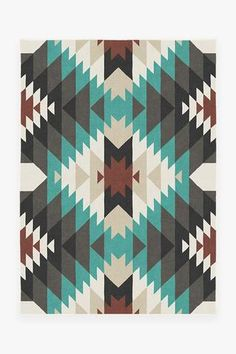 Inspired by Native American art, our Mariposa Turquoise Rug uses colorful geometric shapes and patterns, in grey and pearl tones with pops of turquoise, to create a design reminiscent of a butterfly. Teal Rug, Turquoise Rug, Stone Rug, Machine Washable Rugs, 8x10 Area Rugs, Barn Quilts, Western Quilts, Native American Art, American Indians