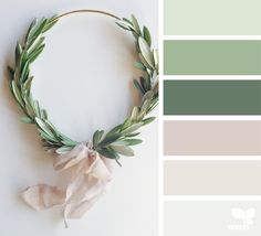Design Seeds + Color Atlas by Archroma® Green Color Schemes, Green Colour Palette, House Color Schemes, Bedroom Color Schemes, House Colors, Green Colors, Color Combos, Christmas Colour Palette, Interior Colour Schemes