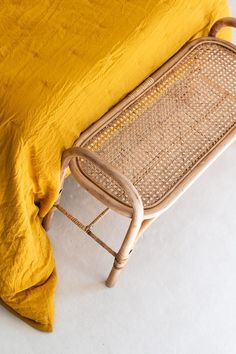 Natural rattan and cane bedstead JACK Tip Cane Furniture, Rattan Furniture, Furniture Design, Barbie Furniture, Garden Furniture, Kids Armchair, Boho Lounge, Brass Mirror, Wicker Table