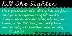 KG The Fighter font by Kimberly Geswein Fonts.    Free for personal use.  Please pay for commercial use.