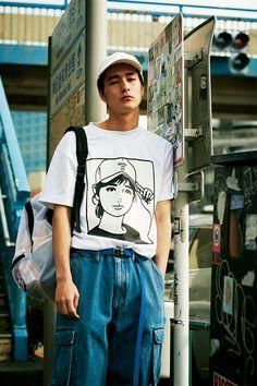 70 Best Japanese Streetwear Styles For Men That Will Look So Cool 67 Streetwear Mode, Streetwear Fashion, Streetwear Summer, Streetwear Clothing, Best Mens Fashion, Fashion Tips, Fashion Trends, Male Summer Fashion, 80s Fashion Men