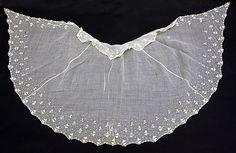 Fichu Date: 1840 Culture: European Medium: cotton