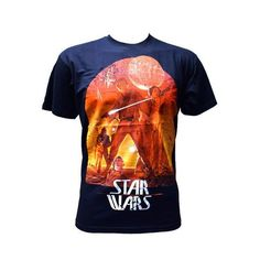 Official Star Wars A New Hope Sunset Blue T-Shirt - Yellowbulldog.co.uk