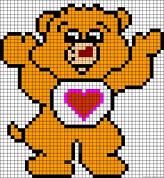 Bisounours / Care Bear perler bead pattern