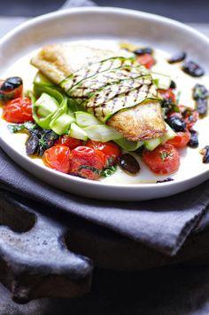 Homemade healthy seabass