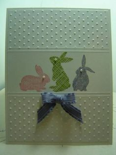 Sweet Bunnies by crazysuziestamper - Cards and Paper Crafts at Splitcoaststampers