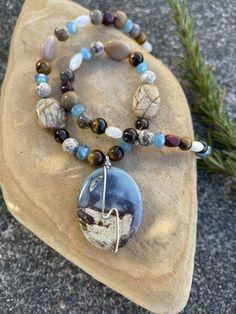 Double Strand Mookaite Jasper and Mystic Citrine Quartz on Rose Gold Gift For Her