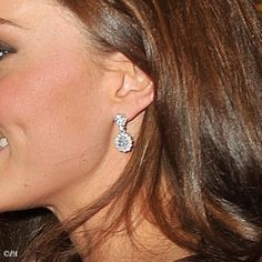 The Duchess of Cambridge wore these UFO Drop Earrings to the Sovereigns' Diamond Jubilee luncheon, May 18, 2012.