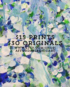 Looking for affordable, modern, vibrant art? $15 prints / $30 originals at https://www.etsy.com/shop/affordablychicart