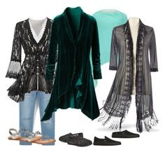 """""""Lacy, Green and Casual"""" by christinedashwood on Polyvore featuring Violeta by Mango, Avenue, Vans and Steilmann"""