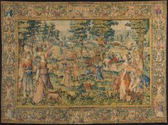 Meleager and Atalanta by François Spierincx, c.1593. Rijksmuseum, Public Domain Modern Tapestries, Medieval Tapestry, The Turk, Textile Art, Vintage World Maps, Bohemian Rug, Old Things, Creatures, History