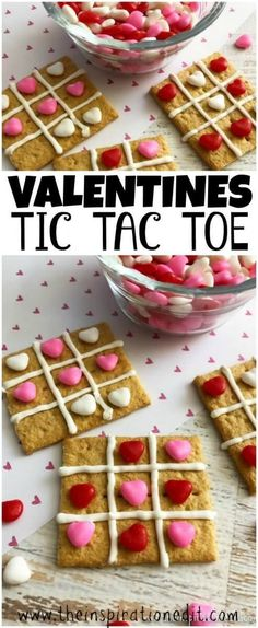 Valentines Tic Tac Toe Treat ..Easy Valentine's Idea - Perfect for a Kid's Party. #ValentinesDay #Valentines #Baking #Funfood #Heart #Valentinesrecipes #Valentinesidea #CookWithKids #Homeschool #Homeschoolideas