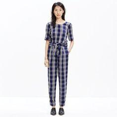 Madewell - Mott Tie-Waist Jumpsuit in Inkcheck