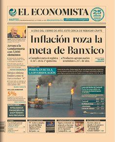 """""""Inflación roza la meta de Banxico"""", en la portada de este 24 de diciembre de 2013."""