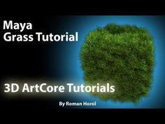 Maya Tutorial- How to create Grass using FUR