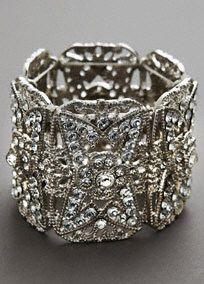 Bold Crystal Bracelet, Style 130588 #davidsbridal #weddings #jewelry