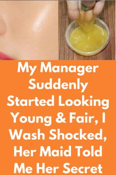 My Manager Suddenly Started Looking Young & Fair, I Wash Shocked, Her Maid Told Me Her Secret In this remedy, I have shared a simple, purely natural & highly effective multivitamin face serum that leaves your skin super-soft, plump, youthful & glowy.The DIY serum is lightweight, absorbs quickly into the skin and help reduce wrinkles, fine lines, crow's feet and delivers brilliantly beautiful, more luminous and ageless skin. Ingredients required : Green …