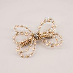 The Selene Bow Hair Clip Bow Hair Clips, Hair Bows, Bow Clip, Girls Hair Accessories, Party Accessories, Crystal Beads, Crystals, Pearl Beads, Hair Clasp