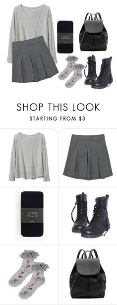 """Untitled #43"" by catastr0ph3 ❤ liked on Polyvore featuring Gap, J.Crew, Forever 21, Witchery, tumblr, pale, grunge and asian"