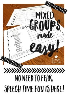 Do not fear mixed therapy groups - Speech Time Fun