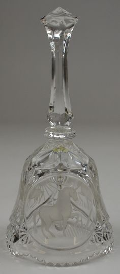 """crystal bells   Details about Etched Unicorn Pattern Crystal Bell 8"""" Tall Collectible ..."""