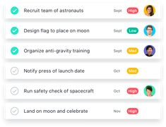 Asana Screenshot. Grupos de trabajo