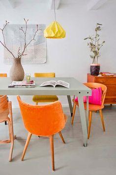 modern dining color -- oranje!