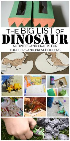 Discover enjoy pla Discover enjoy play and learn with this BIG list of dinosaur crafts and activities for toddlers and preschoolers that can't be missed. Dinosaurs Preschool, Dinosaur Activities, Dinosaur Crafts, Preschool Learning Activities, Preschool At Home, Toddler Preschool, Toddler Crafts, Preschool Crafts, Toddler Activities
