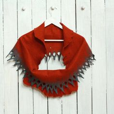 Women infinity scarf  felted wool circle scarf from by AgnesFelt, $57.00
