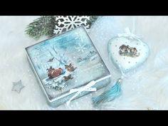 Decoupage świąteczny komplet pudełko i bombka ZESTAW STARTOWY - DIY tutorial - YouTube Christmas Decoupage, Decoupage Box, Diy Tutorial, Diy And Crafts, Coasters, Recycling, Xmas, Boxes, Home Decor