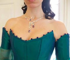 Moonlight Bridal Necklace Sterling Wedding Special Occasion Celtic Fairy Elven Renaissance Medieval. $199.99, via Etsy.
