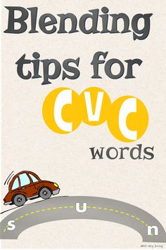 Simple teaching tips for blending CVC words, alternative ways of teaching literacy. Teaching Tips, Teaching Reading, Reading Resources, Reading Strategies, Guided Reading, Reading Comprehension, Phonics Activities, Letter Activities, Class Activities