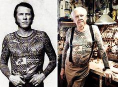 Como fica uma pessoa com tatuagens quando envelhece… a eterna questão! | Tá Bonito