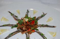 anchois con verduras al wok