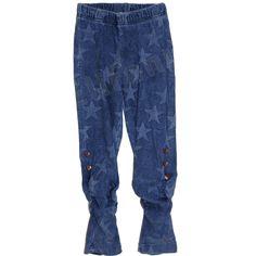 Carbone bequeme Leggings Sterne Blau