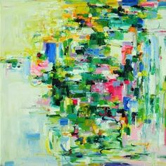 Art Giclee Print 10x10 from original abstract oil painting - April- wall decor