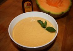 Chilled Melon, Cucumber and Coconut Soup