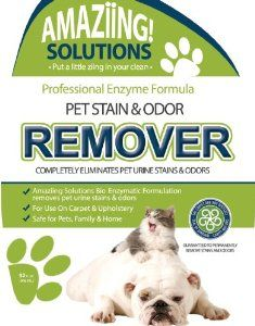 Amaziing Solutions Pet Stain and Odor Remover, 32oz Spray Bottle : Pet Supplies. http://www.amazon.com/Stain-Remover-Eliminator-Carpet-Cleaner/dp/B00HV2PVRM