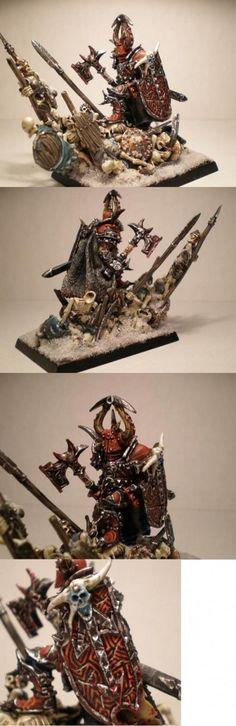 Khorne Chaos Warrior  miniature for #Warhammer Fantasy Battles