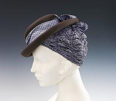 Schiaparelli Hat - 1940 - by Elsa Schiaparelli (Italian, 1890-1973) - Wool, silk