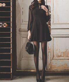 Champi Long-Sleeved Mini Dress   YESSTYLE