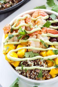 Cilantro Lime Quinoa, Shrimp And Quinoa, Quinoa Bowl, Quinoa Dishes, Seafood Recipes, Cooking Recipes, Healthy Recipes, Free Recipes, Recipes Dinner