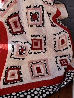 Radio Flyer Wonky Log Cabin Quilt by Jacquie G, via Flickr