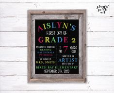 First Day of School Print, 8x10, Digital Download, Printable by playfulprintsart on Etsy School Date, Childrens Room Decor, Blossom Flower, One Day, My Teacher, First Day Of School, Custom Photo, Things To Know, Decoration