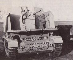 Sd.Kfz. 161-3 Flakpanzer IV Möbelwagen with a 2 cm Flak 38 Vierling anti aircraft gun