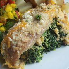 Aunt Carol's Spinach and Fish Bake Allrecipes.com
