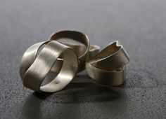 Sterling Silver Abstract Wraped  Metalwork by Gioiellibyliat, $165.00