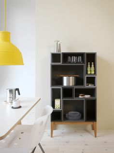 I like this combination of boxes.  Citti storage system from Swedish company Zweed.