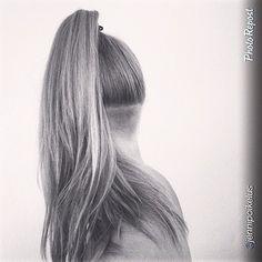 Long hair undercut.
